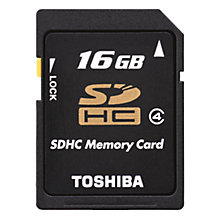 Buy Toshiba Class 4 High Speed Standard SDHC Memory Card, 16GB, 15MB/s Online at johnlewis.com