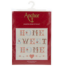 Buy Anchor Home Sweet Home Counted Cross Stitch Kit Online at johnlewis.com