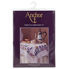 Buy Anchor Spring Flower Tablecloth Freestyle Embroidery Kit Online at johnlewis.com