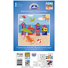 Buy DMC Bright Beach Huts Counted Cross Stitch Kit Online at johnlewis.com