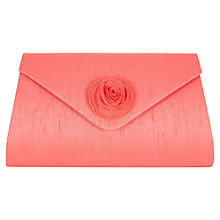 Buy Jacques Vert Soft Flower Clutch Bag, Bright Pink Online at johnlewis.com