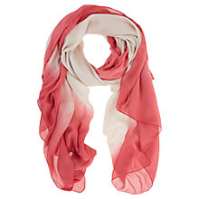 Buy Mint Velvet Ombre Scarf, Papaya Online at johnlewis.com