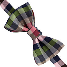 Buy Thomas Pink Selby Self Tie Silk Bow Tie, Grey/Neutral Online at johnlewis.com