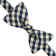 Buy Thomas Pink Two Colour Gingham Self Tie Bow Tie Online at johnlewis.com