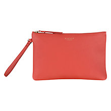 Buy Radley Golden Square Medium Leather Clutch, Orange Online at johnlewis.com