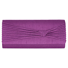 Buy Jacques Vert Woven Detail Clutch Bag, Bright Purple Online at johnlewis.com