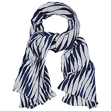 Buy White Stuff Textured Scarf, Navy Online at johnlewis.com