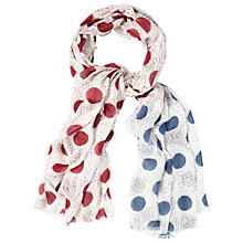 Buy White Stuff Drizzle Spot Print Linen Scarf, Multi Online at johnlewis.com