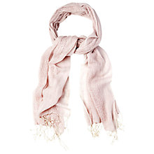 Buy White Stuff Woven Mesh Stripe Scarf, Pink Online at johnlewis.com