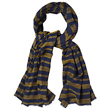 Buy White Stuff Woven Stripe Scarf, Navy Online at johnlewis.com