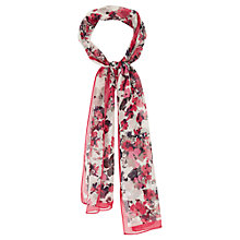 Buy Viyella Silk Scatter Floral Scarf, Rose Online at johnlewis.com
