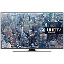 "Buy Samsung UE75JU6400 LED 4K Ultra HD Smart TV, 75"" with Fereview HD and Built-In Wi-Fi, Black with HW-J550 Wireless Soundbar Online at johnlewis.com"