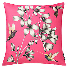 Buy Harlequin Amazilia Floral Cushion, Magenta Online at johnlewis.com