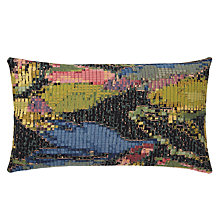 Buy Harlequin Congo Cushion, Olive / Flamingo Online at johnlewis.com