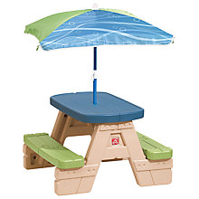 Buy Step2 Sit & Play Picnic Table with Umbrella Online at johnlewis.com