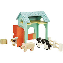 Buy John Lewis Wooden Farmyard Set Online at johnlewis.com