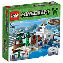 Buy LEGO Minecraft The Snow Hideout Online at johnlewis.com