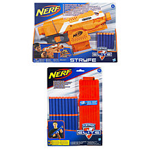 Buy Nerf  N-Strike Elite Stryfe Blaster & Dart Clip Twin Pack Online at johnlewis.com