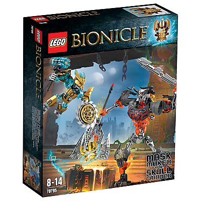LEGO Bionicle Mask Maker vs. Skull Grinder