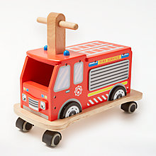 Buy John Lewis Fire Engine Ride On Online at johnlewis.com