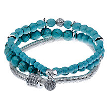Buy Adele Marie Three Row Turquoise Mesh Bracelet Online at johnlewis.com