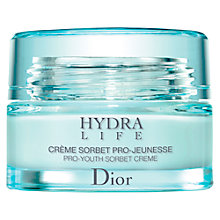Buy Dior Hydra Life Pro-Youth Sorbet Creme, 50ml Online at johnlewis.com