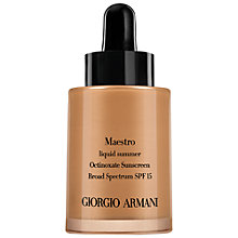Buy Giorgio Armani Maestro Liquid Sun Bronzer, 30ml Online at johnlewis.com