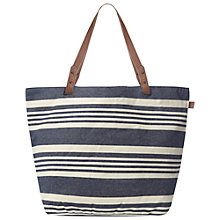 Buy White Stuff Striped Canvas Shopper Bag, Navy Online at johnlewis.com
