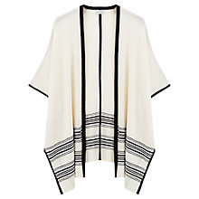 Buy Jigsaw Summer Blanket Poncho, Cream Online at johnlewis.com
