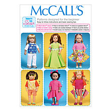 Buy McCall's Dolls Clothing Sewing Pattern Online at johnlewis.com