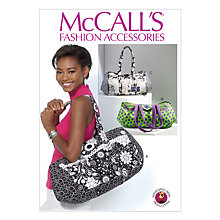 Buy McCall's Women's Sports Barrel Bags Sewing Pattern, 7102, One Size Online at johnlewis.com