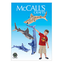 Buy McCall's Stuffed Shark Sewing Pattern, 7103, One Size Online at johnlewis.com