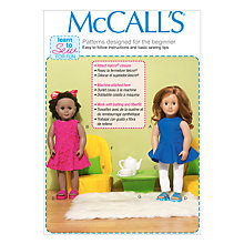 Buy McCall's Doll's Clothes Chairs Pillowcase & Table Sewing Pattern, 7105 Online at johnlewis.com