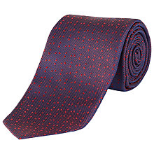 Buy Jaeger Basketweave Dobby Silk Tie, Red Online at johnlewis.com