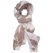Buy Chesca Floral Print Scarf, Beige/Brown Online at johnlewis.com