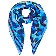 Buy Jigsaw Silk Lemons Scarf, Blue Online at johnlewis.com