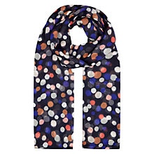 Buy Hobbs Ikat Spot Print Scarf, Navy/Multi Online at johnlewis.com