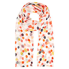 Buy Hobbs Ikat Spot Print Scarf, Ivory/Multi Online at johnlewis.com