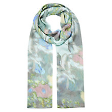 Buy Hobbs Belinda Scarf, Misty Blue/Multi Online at johnlewis.com