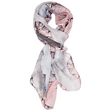 Buy Chesca Silk Blend Floral Print Scarf, Multi Online at johnlewis.com