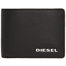 Buy Diesel Hiresh XS Leather Wallet, Black Online at johnlewis.com