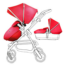 Buy Silver Cross Chrome Pioneer Set with Free Simplicity Car Seat, Chilli Online at johnlewis.com