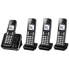 Buy Panasonic KX-TGD324EB Digital Cordless Phone with Nuisance Call Control and Answering Machine, Quad DECT Online at johnlewis.com