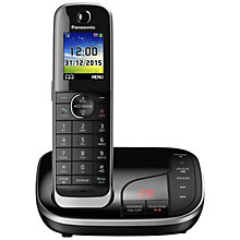 Buy Panasonic KX-TGJ320EB Digital Cordless Phone with Nuisance Call Control and Answering Machine, Single DECT Online at johnlewis.com