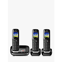 Buy Panasonic KX-TGJ323EB Digital Cordless Phone with Nuisance Call Control and Answering Machine, Trio DECT Online at johnlewis.com