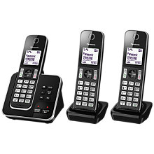 Buy Panasonic KX-TGD323EB Digital Cordless Phone with Nuisance Call Control and Answering Machine, Trio DECT Online at johnlewis.com