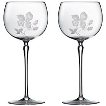 Buy Wedgwood Wild Strawberry Crystal Goblets, Set of 2 Online at johnlewis.com