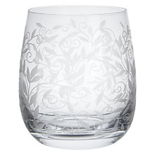 Buy John Lewis Maison Etched Crystal Glass Tumbler Online at johnlewis.com