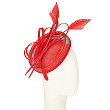 Buy John Lewis Maya Loops Pillbox Fascinator, Red Online at johnlewis.com