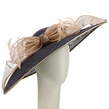 Buy John Lewis Zara Loops Occasion Hat, Navy/Taupe Online at johnlewis.com